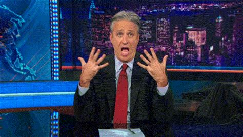 excited gif excited jon stewart gif find on giphy