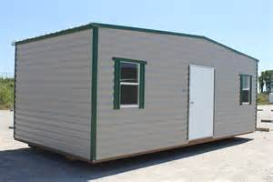 storage shed 10 x 20 with green trim buildings