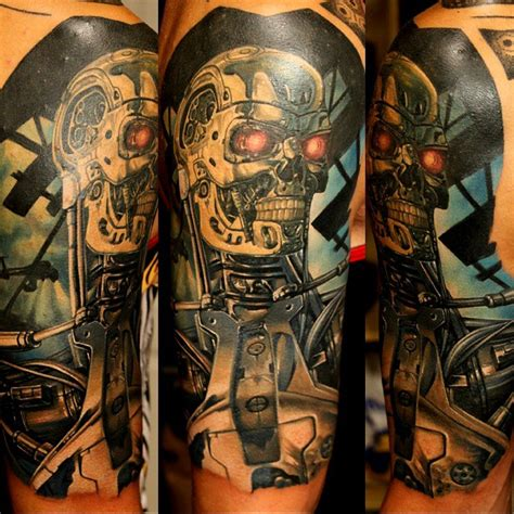 terminator tattoo designs terminator on shoulder best ideas gallery