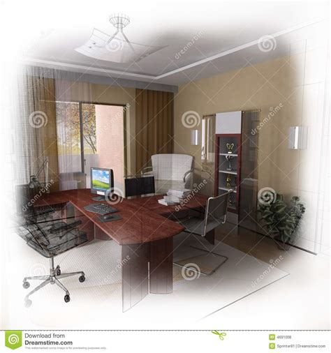 design home office online 3d wireframe modern home office design royalty free stock