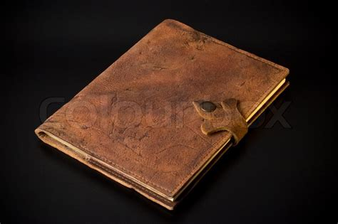 sketch book with leather cover handmade sketchbook in leather cover stock photo colourbox