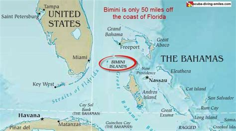 bahamas location map map of bimini you can t get lost on this bahamas island