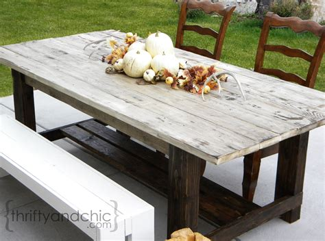 Diy Wood Patio Table Thrifty And Chic Diy Projects And Home Decor