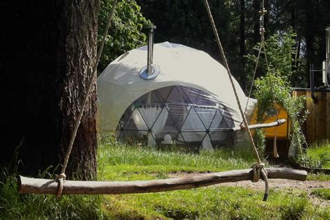 luxury glamping holidays in the uk the dome garden