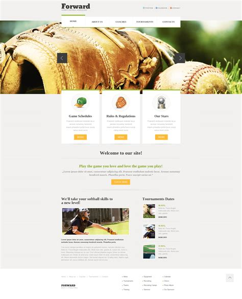 templates for football website football responsive website template 46286