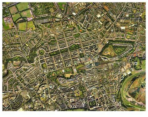 map view aerial view of edinburgh 2001 with grid