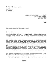 Modele lettre divorce consentement mutuel – Uomo