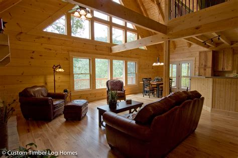 beyond the aisle home envy log cabin interiors log cabin great room pictures mountain crest 2 log home