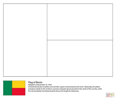 flag of ethiopia coloring page with coloring page