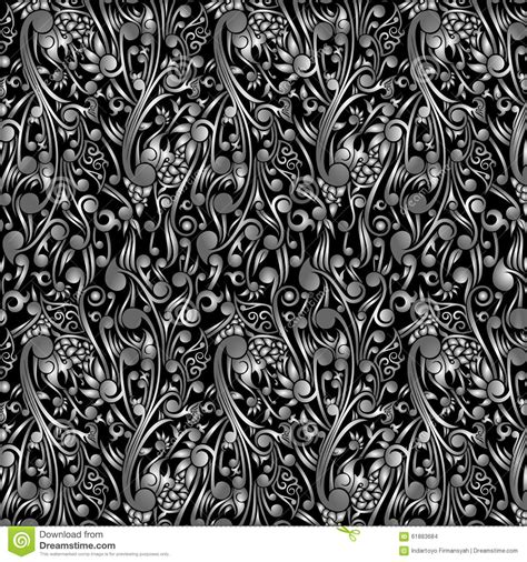 wallpaper batik tribal wallpaper batik floral with black swirl shape stock