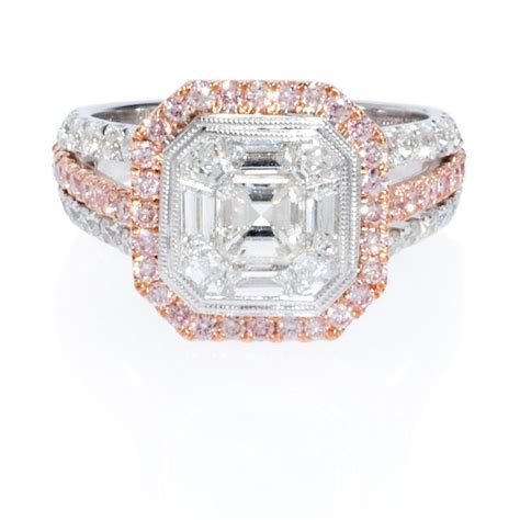 1 98ct simon g 18k two tone gold engagement ring