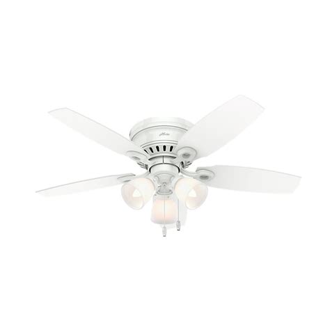 Home Depot White Ceiling Fan With Light with Hatherton 46 In Indoor White Ceiling Fan With Light Kit 52087 The Home Depot
