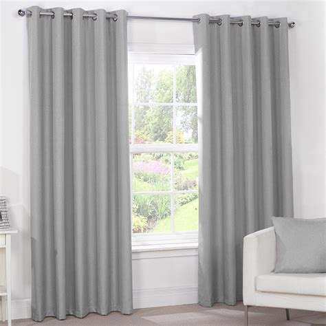 Luxury Grey Curtains Silver Grey Luxury Thermal Blackout Eyelet Curtains Pair Luxury Grey Curtains And Cosy