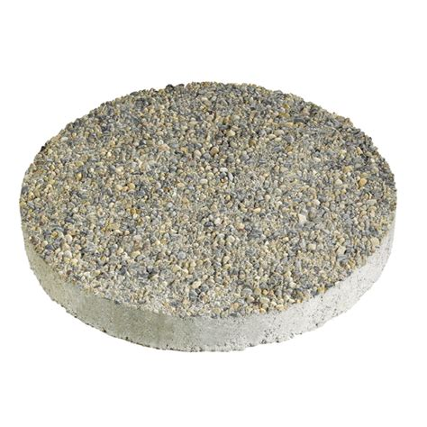 shop anchor block 12 in gray round exposed aggregate stepping stone at lowes com