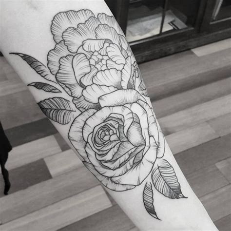 70 adorable peony tattoo designs for men pretty but