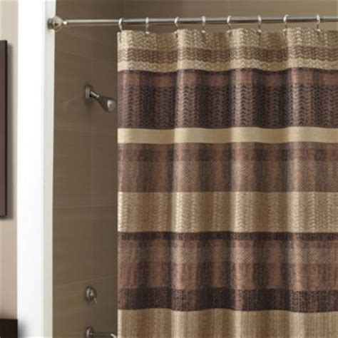 bronze curtain croscill 174 portland 54 inch x 78 inch shower curtain in