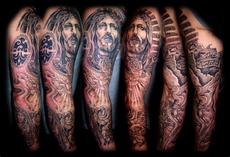 religious leg tattoos for men 30 christian tattoos on sleeve