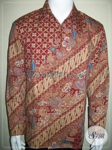 Kemeja Batik Pria Lengan Panjang Semata Wayang Warna Merah Ukuran 145 kemeja batik lengan panjang pria bahan doby warna merah elegan lp1010btd l toko batik