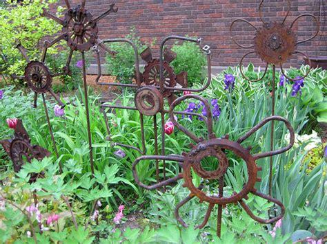 diy metal garden diy quot junk quot garden the garden glove