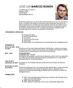 Modelo Curriculum Vitae Monitor Deportivo Modelo Cv Entrenador Personal Livecareer