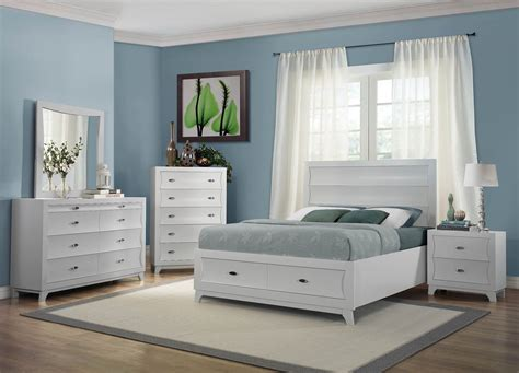 storage bedroom sets zandra white platform storage bedroom set from homelegance
