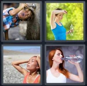 hot drink 8 letters 4 pics 1 word answer for drink exercise sweat water