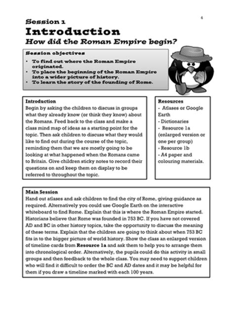 romans ks2 sle lesson plan linked to story by uk romans literacy planning pack instructions unit y3 4 by