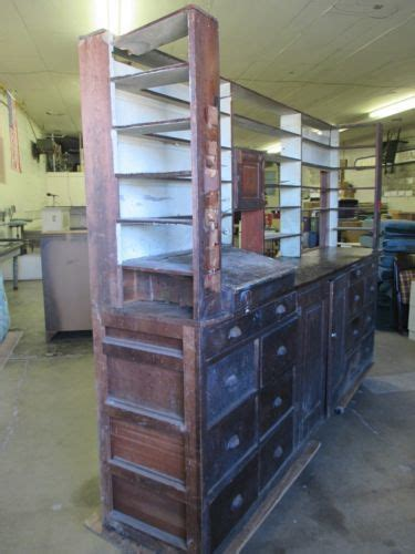 antique apothecary drug store counter kitchen island