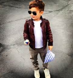 hair styles for 5year boys boys fashion leather jacket for the kids pinterest