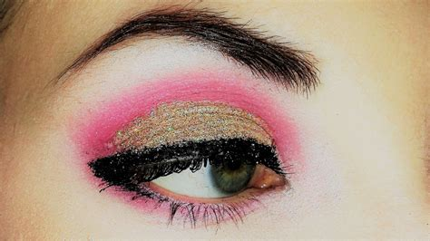 light pink glitter eyeshadow gold glitter and pink eyeshadow makeup youtube