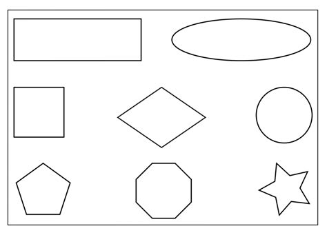 printable coloring pages shapes free shape tracing coloring pages