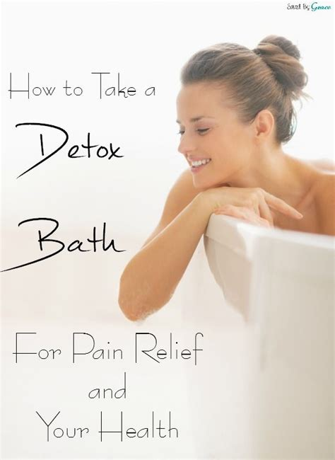Inflammation Detox Bath by How To Take A Detox Bath For Chronicpain Or Any Of