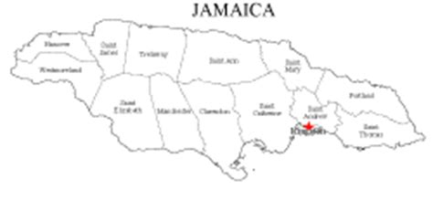 printable map of jamaica with parishes blank map of jamaica images frompo