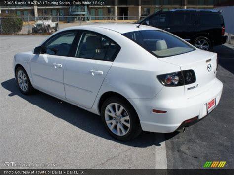 white mazda 3 2008 2008 mazda mazda3 i touring sedan in rally white photo no