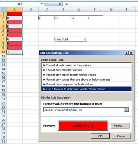excel 2007 format cell based on formula count cell colour excel 2007