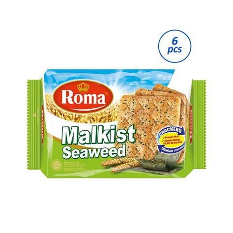 Roma Malkist Crackers 135 Gram jual roma malkist seaweed crackers 6 pack 135 g