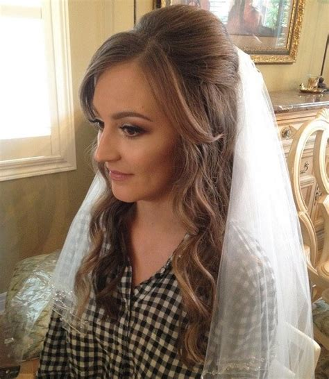 Wedding Hair Up Styles With Veil by Half Up Half Wedding Hairstyles 50 Stylish Ideas