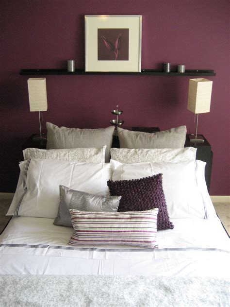 plum colors for bedroom walls bedroom accent wall color design ideas for house