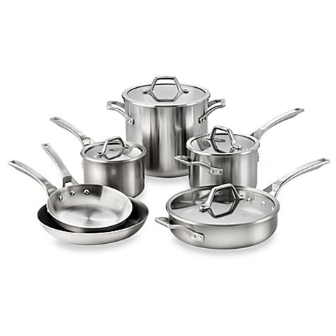 Bed Bath And Beyond Cookware Sets Calphalon 174 Accucore Stainless Steel 10 Cookware Set Bed Bath Beyond