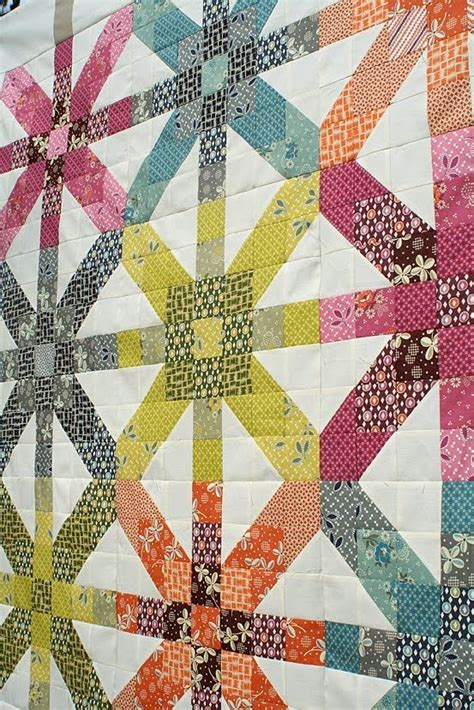 Quilt Pattern Fabric Requirements   freshly pieced supernova quilt along fabric requirements