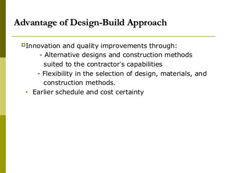 design and build contract advantages and disadvantages construction contracts docuements 08092008