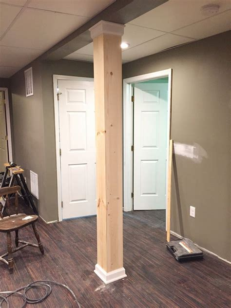 basement wrap on dover a post about a post disguising a basement support pole trim