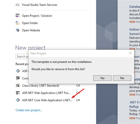 templates for asp net web application asp net web application template is missing visual studio