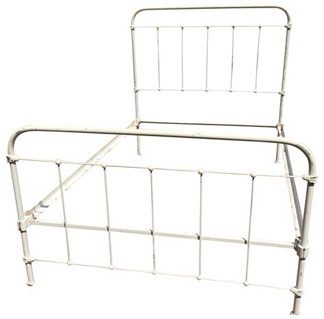 vintage iron bed frames vintage shabby chic wrought iron bed frame chairish