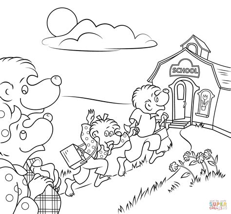 Berenstain Bears Go To School Coloring Page Free Berenstain Bears Coloring Page