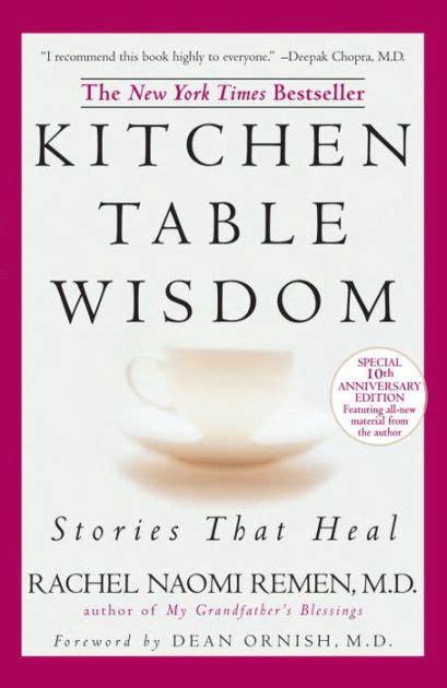 kitchen table wisdom stories that heal by rachel naomi