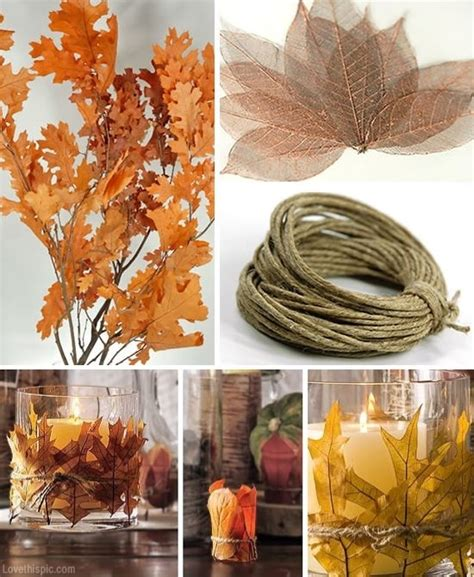 4 diy autumn home decor craft ideas using leaves the autumn decorating pictures photos and images for