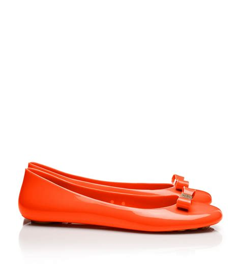 jelly shoes flats burch jelly bow ballet flats in lyst
