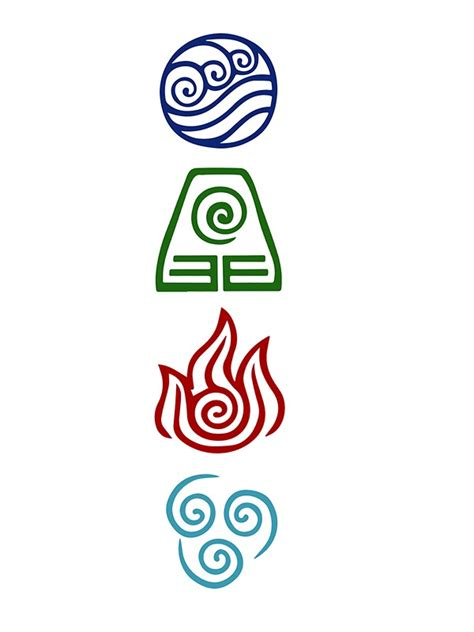 quot avatar four elements quot stickers by daljo redbubble
