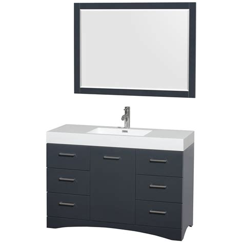 bathroom vanities 48 inches wide delray 48 inch single bathroom vanity in clay acrylic